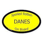 Spoiled Danes On Board Oval Sticker