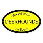 Spoiled Deerhounds On Board Oval Sticker