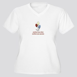 ANOTHER YEAR OLDER... Women's Plus Size V-Neck T-S