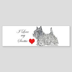 Scottie Graphic Art Bumper Sticker