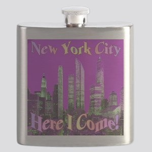 New York City Here I Come! Flask