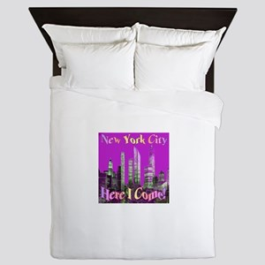 New York City Here I Come! Queen Duvet