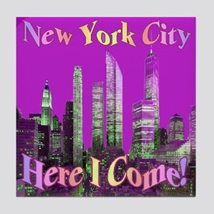 New York City Here I Come! Tile Coaster