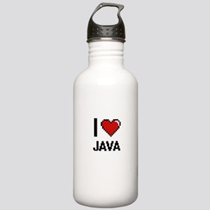 I Love Java digital re Stainless Water Bottle 1.0L