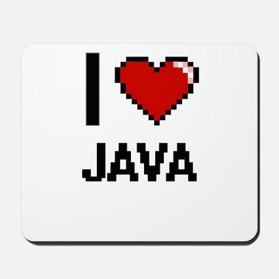 I Love Java digital retro design Mousepad