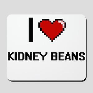 I Love Kidney Beans digital retro design Mousepad