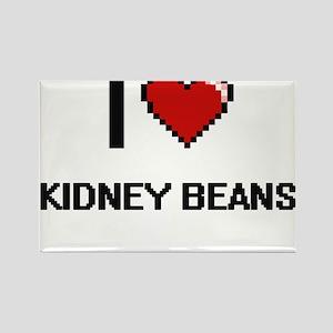 I Love Kidney Beans digital retro design Magnets