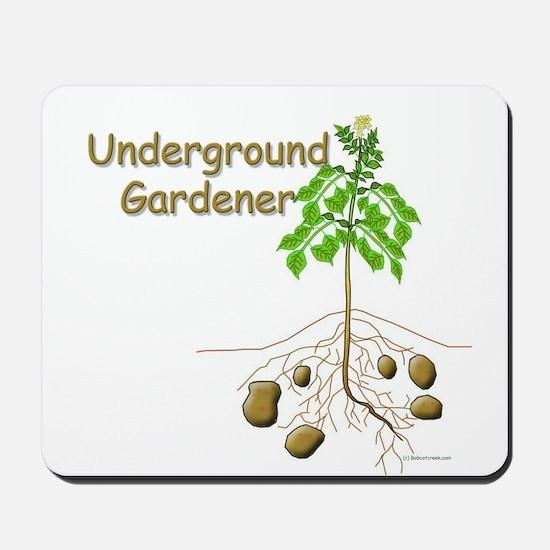 Underground gardener Mousepad