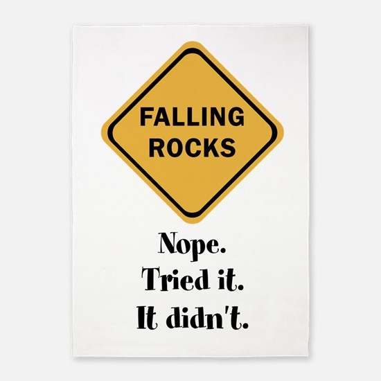 falling doesn't rock 5'x7'Area Rug