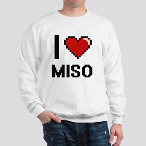 I Love Miso digital retro design Sweatshirt