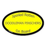 Spoiled Doodleman Pinschers Oval Sticker