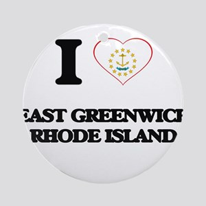 I love East Greenwich Rhode Islan Ornament (Round)
