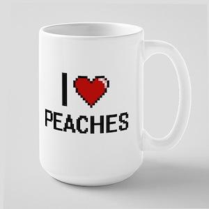 I Love Peaches digital retro design Mugs