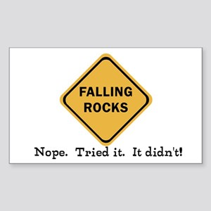 Falling Doesn't Rock, I Sticker (Rectangle 50 pk)