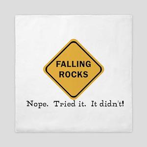 Falling Doesn't Rock, I Tried It Queen Duvet