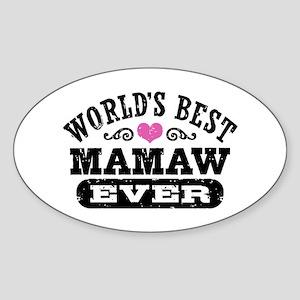World's Best MaMaw Ever Sticker (Oval)