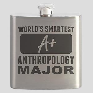 Worlds Smartest Anthropology Major Flask