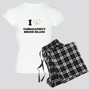 I love Narragansett Rhode I Women's Light Pajamas