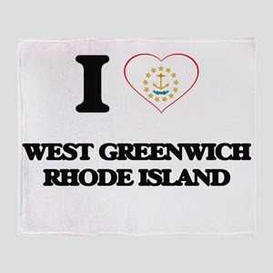 I love West Greenwich Rhode Island Throw Blanket