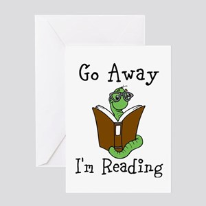 Go Away Greeting Cards