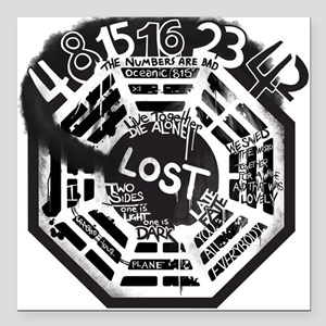"Memories From LOST Square Car Magnet 3"" x 3"""