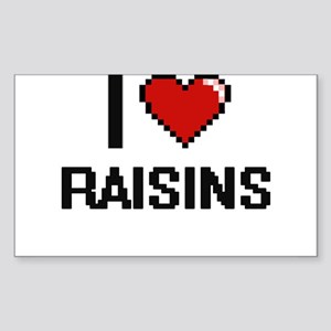 I Love Raisins digital retro design Sticker