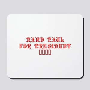 Rand Paul for President 2016-Pre red 8 Mousepad