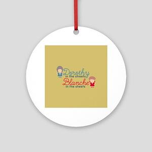 GG Dorothy Blanche Round Ornament