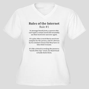 Internet Rule #1 Women's Plus Size V-Neck T-Shirt