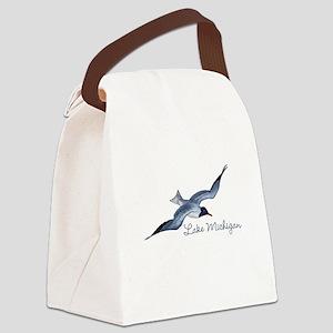 Lake Michigan Canvas Lunch Bag