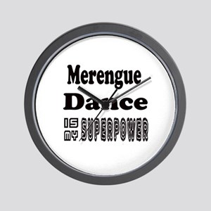 Merengue Dance Is My SuperPower Wall Clock