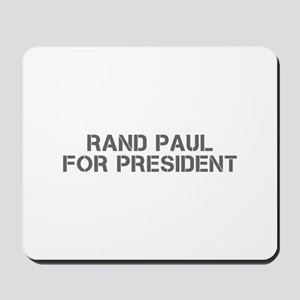 Rand Paul for President-Cle gray 5 Mousepad