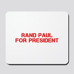 Rand Paul for President-Cle red 5 Mousepad
