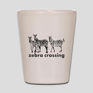 Zebra Crossing Shot Glass
