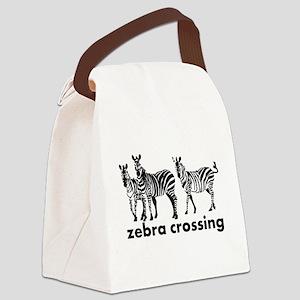 Zebra Crossing Canvas Lunch Bag