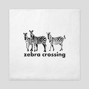 Zebra Crossing Queen Duvet