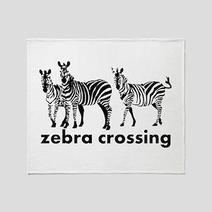 Zebra Crossing Throw Blanket