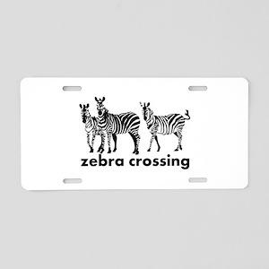 Zebra Crossing Aluminum License Plate