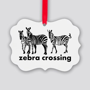 Zebra Crossing Ornament