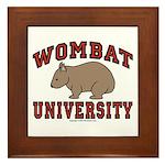 Wombat University Framed Tile