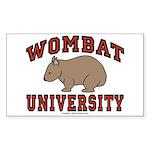 Wombat University Rectangle Sticker