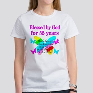 BLESSED 55 YR OLD Womens T Shirt