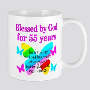 BLESSED 55 YR OLD Mug
