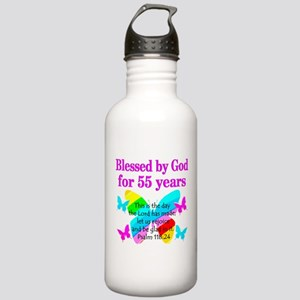 BLESSED 55 YR OLD Stainless Water Bottle 1.0L