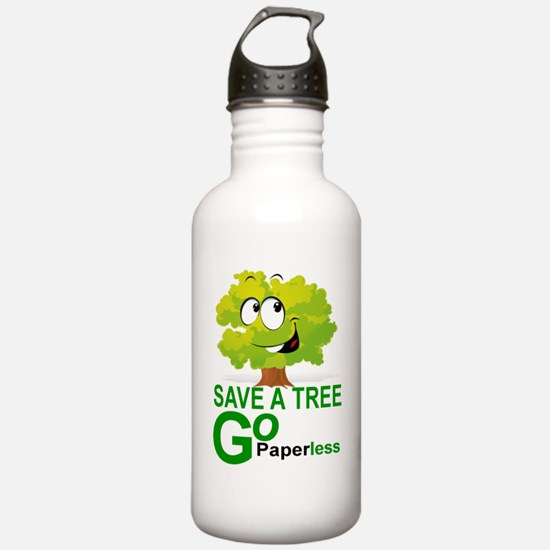 SAVE A TREE, GO PAPERL Water Bottle