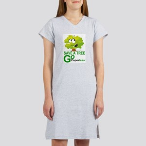 SAVE A TREE, GO PAPERLESS Women's Nightshirt