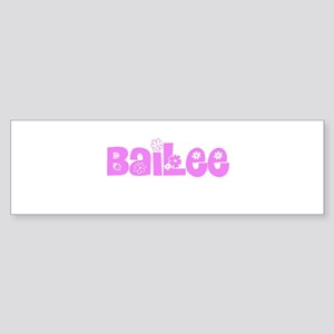 Bailee Flower Design Bumper Sticker