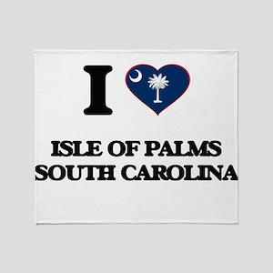 I love Isle Of Palms South Carolina Throw Blanket