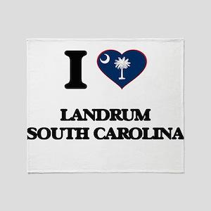 I love Landrum South Carolina Throw Blanket