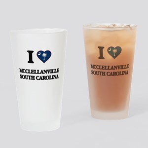 I love Mcclellanville South Carolin Drinking Glass